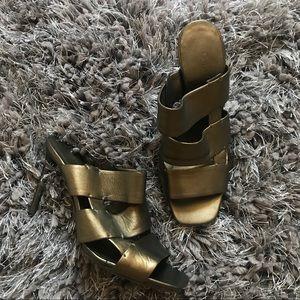 Celine Metallic Heels Size 6 Sandals Italy